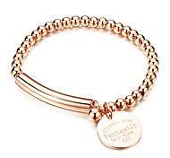 Armbänder Strang-Armbänder versilbert / Rose Gold überzogen / Stahl Geometrische Form Modisch Alltag / Normal Schmuck GeschenkGoldfarben