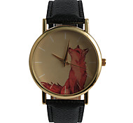 Lovely Red Wolf Ladies Watch Cartoon Decoration