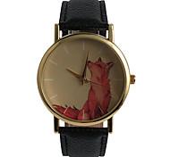 Lovely Red Wolf Ladies Watch Cartoon Decoration