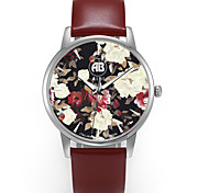 AIBI® Men's Fashion Watch Water Resistant/Water Proof Charles Florida Flower Wrist Watch For Men Cool Watch Brown Unique Watch With Watch Box