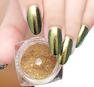 2g/Box Shinning Mirror Nail Glitter Powder Sliver Gold Nail Art Sequins Chrome Pigment Mirror Glitters Powder
