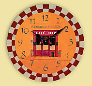 1PC Gear Series Mute Wall Clock Fashion  Sitting Room Bedroom Wall Clock Retro Quartz Clock(Pattern is Random)
