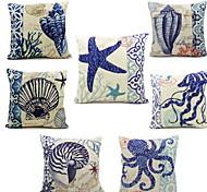 Fluid Systems Pillow Cover Ocean Beach Shell Sofa Cushions Case(Random Pattern)