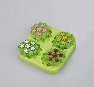 Оптовые романтические цветы формы силиконовые шоколад фондант торт формы fimo глины цвета случайным
