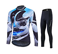 Spring Autumn Long Sleeve Cycling Jersey Sets Breathable Gel Padded Bicycle shirt Sportswear Bike Cycling Clothings