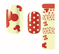 Fashion Lovely Dot Mickey Mouse Bow Nail Decal Art Sticker Gel Polish Manicure Beautiful Girl