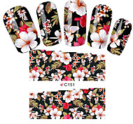 Fashion Flowers Nail Stickers Nail Art Tips Full Cover Wraps Water Transfer Nail Decals Decoration Tools