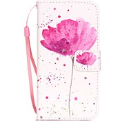 Poppies Pattern Material PU Card Holder Leather for  iPhone 7 7 Plus 6s 6 Plus SE 5s 5 5C 4S
