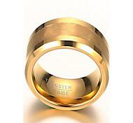 Муж. Классические кольца Массивные кольца Мода бижутерия Позолота Вольфрамовая сталь 18K золото Бижутерия Бижутерия Назначение