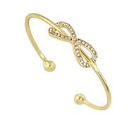 Rhinestone Bowknot Shape Metal Cuff Bracelets