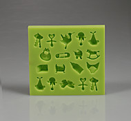 Soft hight quality baby Collection Fondant cake silicone mold Color Random