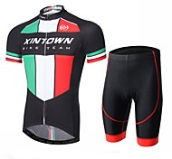 XINTOWN Men Outdoor Cycling Jersey Shorts Set Bike Team Wear Bicycle Sportswear Suit Size S-XXXL