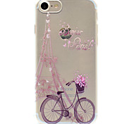 Cycling Tower Pattern TPU High Purity Translucent Openwork Soft Phone Case for iPhone 7 7Plus 6S 6Plus SE 5S 5