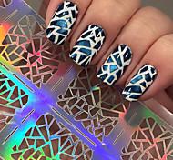 5pcs  Irregular Triangle Pattern Nail Art Manicure Stencil Stickers JV206