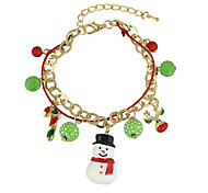New Christmas Gift Colorful Balls Snowman Deer Charms Bracelets