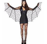 Cosplay Costume/Party Costume Devil Bat/Vampire Festival/Holiday Costume Halloween Black Solid/Lace Terylene Dress