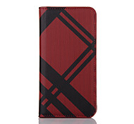 Plaid Pattern PU Leather Wallet Case Cover for Iphone7 Iphone7 Plus Protective Phone Pouch Bag With ID Card Stand Holder