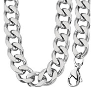 Trendy Never Fade 316L Stainless Steel 9.5MM Chunky Necklace&Bracelet Wholesale Fashion Jewelry Sets For Men NB60011