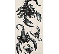 1 Tatuajes Adhesivos Series de Animal scorpions flash de tatuaje Los tatuajes temporales