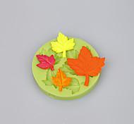 A folha de maple diferentes formas ferramentas de decoração do bolo para fondant bolo cor de chocolate doce aleatória