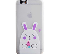 White Rabbit Pattern Simple Matte Material TPU Phone Case For iPhone 6s 6 Plus SE 5s 5