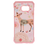 Deer Pattern Metal Plate Inlay TPU Back Case For Samsung Galaxy S7 S7E S6 S6E S6 edge plus S5