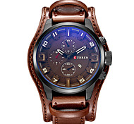 Hombre Reloj Deportivo / Reloj Militar / Reloj de Vestir / Reloj de Moda / Reloj de Pulsera Cuarzo Japonés Calendario Piel BandaCosecha /