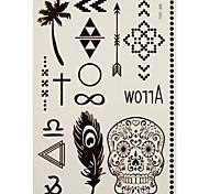 1 Tatuajes Adhesivos Series de Joya / Otros feather arrow flash de tatuaje Los tatuajes temporales