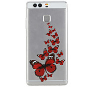 Butterfly Pattern Material TPU Phone Case For Huawei P9 P9 Lite