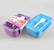 artículos para el hogar de plástico caja de almuerzo simple con la cuchara