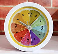 New Style Rural Cool Lemon Fruit Alarm Clock Modern Minimalist Desktop Clocks Lazy Watch Clock