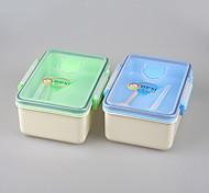 caixa de recipiente de preparação do almoço material de refeição eco pp plástico