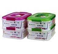 hermético clara recipiente de armazenamento de comida de plástico com o compartimento