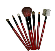 7 Makeup Brushes Set Horse / Goat Hair Portable Wood Face G.R.C