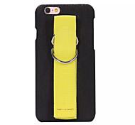 Für iPhone 6 Hülle / iPhone 6 Plus Hülle / iPhone 5 Hülle Hülle Rückseitenabdeckung Hülle Einheitliche Farbe Hart PU - Leder AppleiPhone