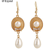 Earring Crystal / Imitation Pearl Earring Back / Drop Earrings Jewelry Women Wedding / Party / Daily / CasualCrystal / Alloy / Imitation