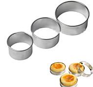 3шт яйцо кекс кольцо стека Prep прессформы резаки круглые печенья формы из нержавеющей стали инструменты