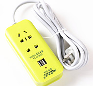7-отверстие USB разъем питания (зеленый 2 метров в длину)