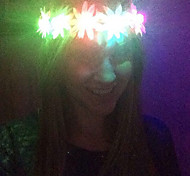 Light Up Led Flower Crown Chrysanthemum Emitting Headband Led Light Headwear Halloween Christmas Holiday Items