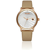 Women Leather Clock Waterproof Female women dress Quartz WristWatch