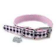 Dog Collar Adjustable/Retractable Solid Pink Plastic