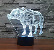 Buffalo Touch Dimming 3D LED Night Light 7Colorful Decoration Atmosphere Lamp Novelty Lighting Christmas Light