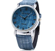 Unissex Relógio de Moda Quartz / Digital Colorido Couro Banda Casual Preta / Azul / Marrom / Verde / Cinza marca
