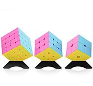 Yongjun® Smooth Cube Velocità 2*2*2 / 3*3*3 / 4*4*4 Velocità / Livello professionale Allevia lo stress / Cubi Rosa Adesivo Smooth Yulong