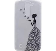 Для lg k8 маленькая девочка шаблон высокая проницаемость tpu материал мобильный телефон оболочка