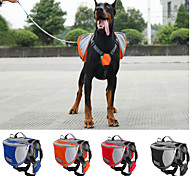 Dog Carrier & Travel Backpack / Dog Pack Pet Carrier Waterproof / Portable Red / Black / Blue / Orange Nylon