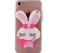 Case for iPhone 7 7plus 6S 6plus Small Rabbit Cartoon Mirror Soft Edge TPU  Acrylic Combo Material