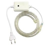 1pcs / 1m eu 220-240V LED RGB waterdichte lamp riem 5050 band tuin licht rgb controller