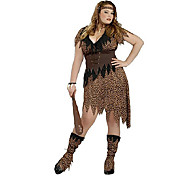 (Pattern is Random)1PC Halloween Costume And Wild Man Clothes