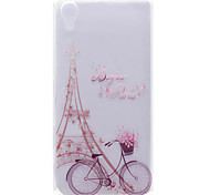 For Sony Xperia X Transparent Pattern Case Back Cover Case Eiffel Tower Soft TPU Sony Xperia X